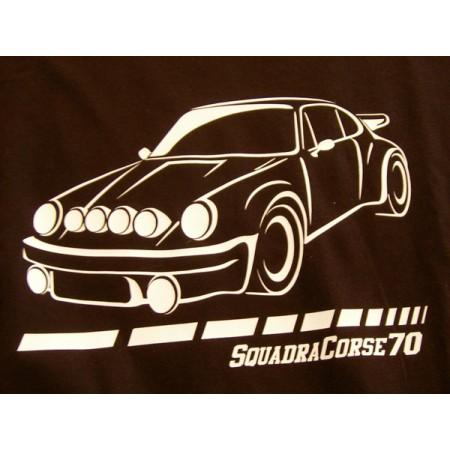 Camiseta Squadra Corse 70 – Porsche 911 negra