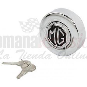 Tapa gasolina con llave cromada MG