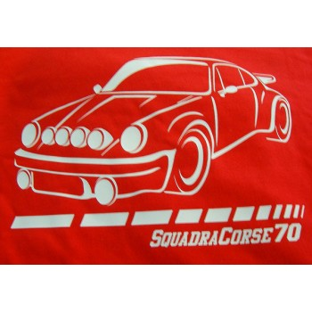 Camiseta Squadra Corse 70 – Porsche 911 roja